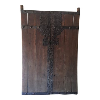Vintage 19th Century Rustic Chinese Elm Gate For Sale