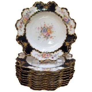 Royal Crown Derby Antique Accent Plates - Set of 12 For Sale
