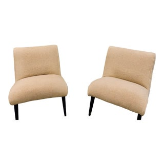 Jens Risom Lounge Chairs - a Pair For Sale