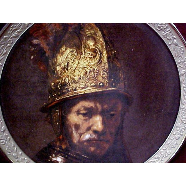 """Gorham gallery of the masters collector's plate """"Man With The Gilt Helmet"""" c.1647 This dish is the first issue of the..."""