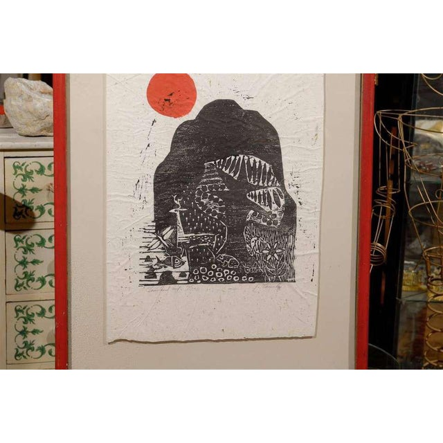 Clausland Mountain, a Woodblock by Artist Jim Tanaka For Sale - Image 4 of 8