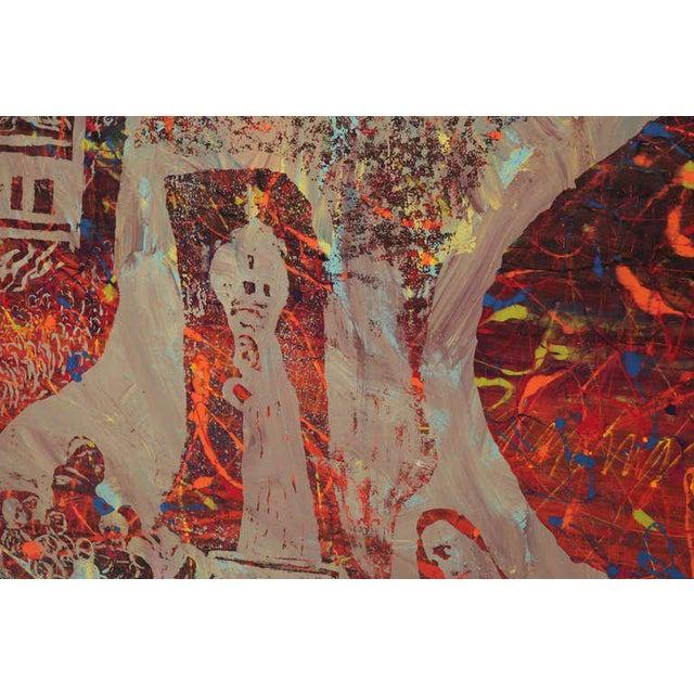 Mid-Century Modern Monumental Steven Sles Painting #1 For Sale - Image 3 of 5