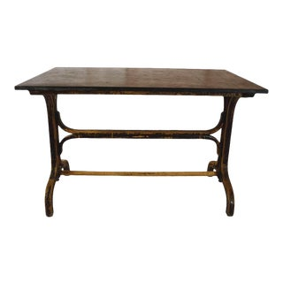 Bistro Table With Stone Top For Sale