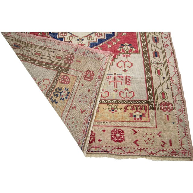 1960s 1960s Vintage One of a Kind Turkish Rug- 4′1″ × 6′ For Sale - Image 5 of 7