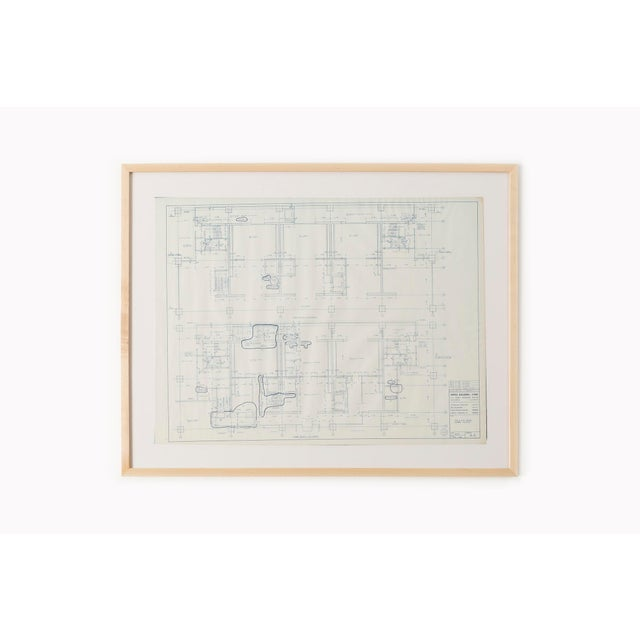 Yellow Original Mies Van Der Rohe Blueprint From 1964, Illuminated Wall Details For Sale - Image 8 of 12