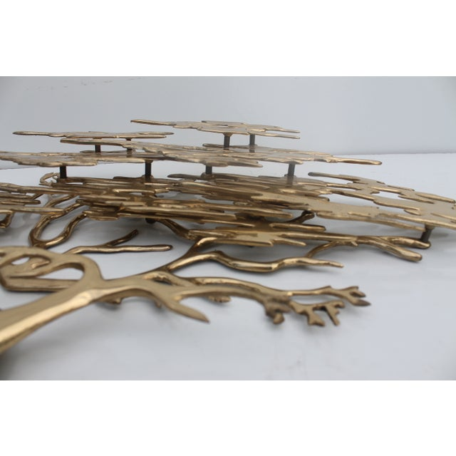 Bijan Solid Brass Wall Sculpture - Image 7 of 10