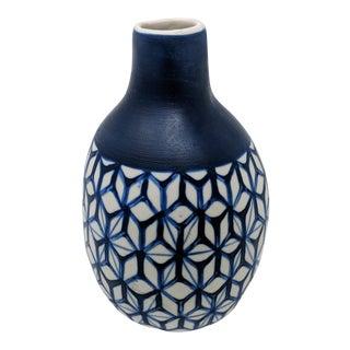 Thai Handmade Blue and White Vase