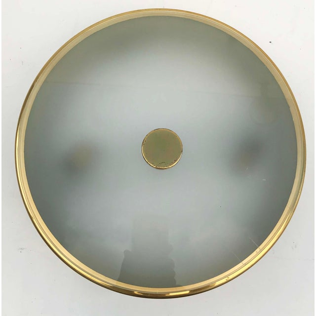 Pierre Guariche Pierre Guariche Style by Arlus Flush Mounts - a Pair For Sale - Image 4 of 5