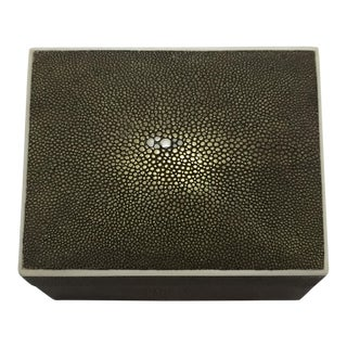 1990s Art Deco R & Y Augousti Shagreen Box For Sale