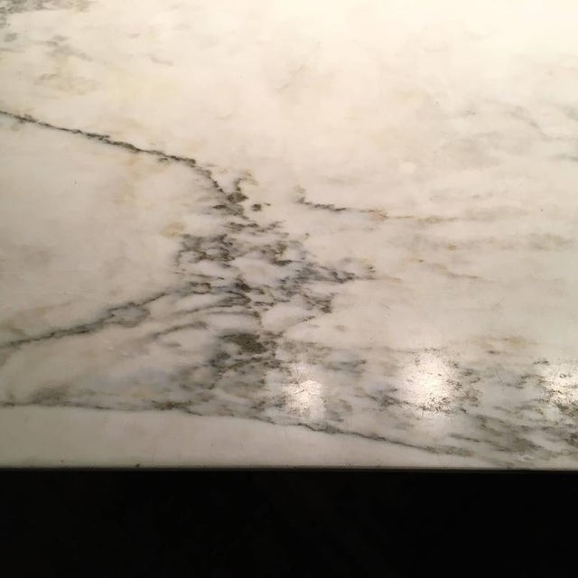 Carrara Marble Elaine Lustig Cohen Marble Extension Dining Table For Sale - Image 7 of 9