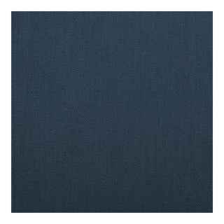 Herringbone Danish Blue Fabric, Belgian, Multiple Yardage For Sale