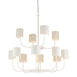 Castle Yard Chandelier, White For Sale