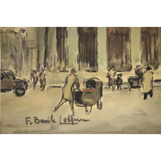 Lovely Parisian watercolour (custom framed) depicting a Paris street scene! Provenance: a Palm Beach estate!