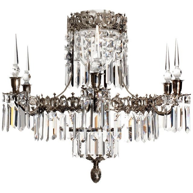 Swedish Style Chrome Bathroom Chandelier For Sale In Greensboro - Image 6 of 7