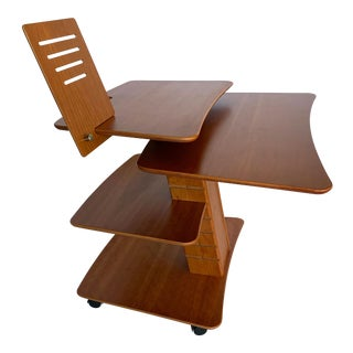 Aksel Kjesgaard of Denmark Teak Mid-Century Adjustable Desk on Casters For Sale