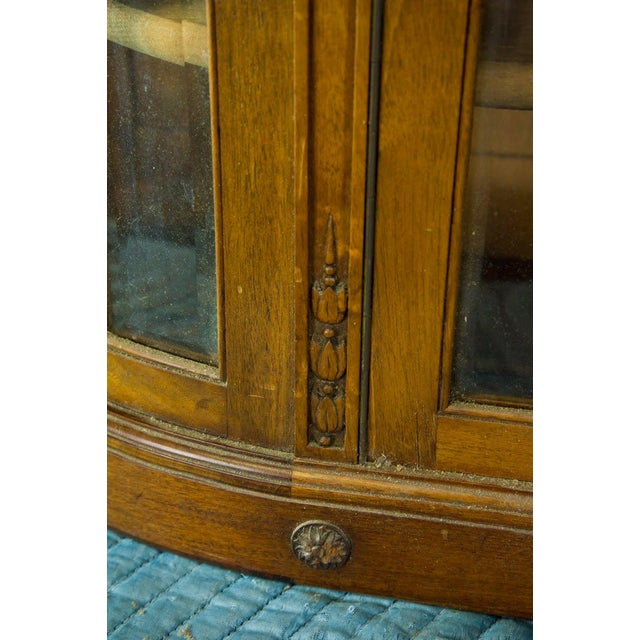 Brass Vintage French Oak Breakfront Display Cabinet For Sale - Image 7 of 10