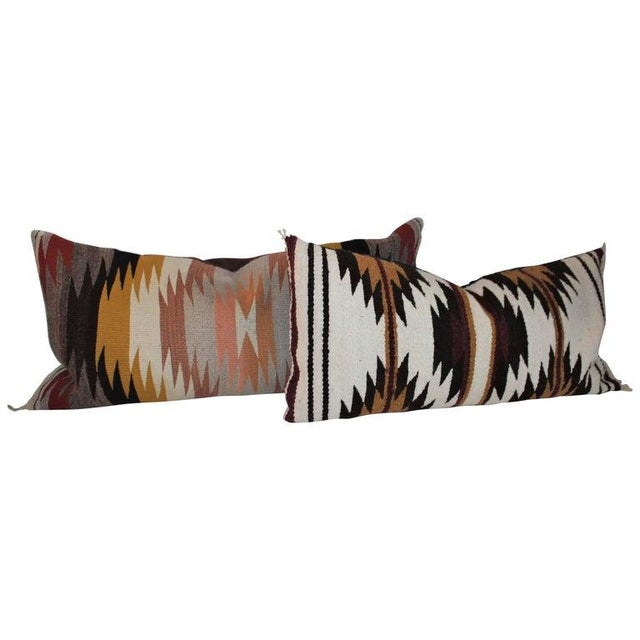 Navajo Indian Saddle Weaving Pillows - Set of 2 For Sale - Image 12 of 12