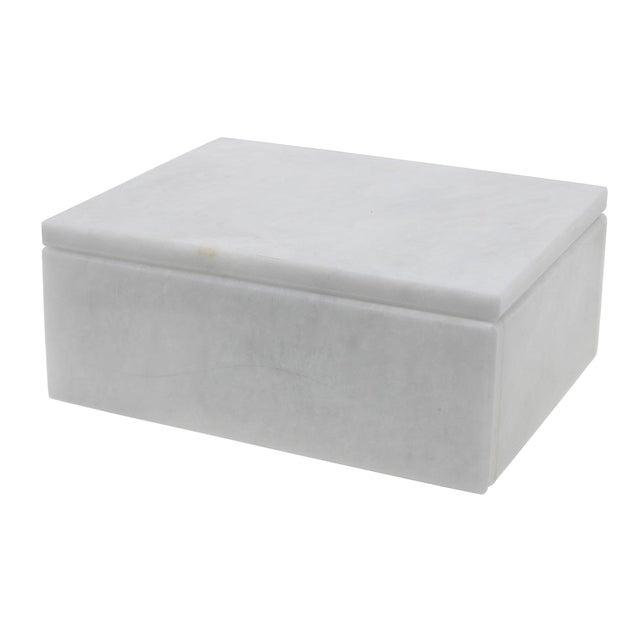 White Marble Keepsake Box For Sale