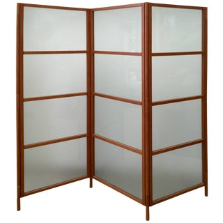 Contemporary Three-Panel Maple Screen For Sale