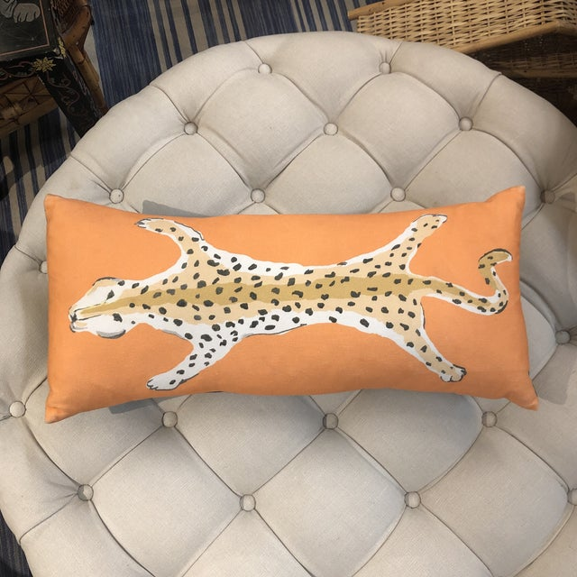 Leopard Lumbar Pillow by Dana Gibson For Sale - Image 13 of 13
