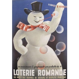 1940s Original Swiss French Poster - Loterie Romande For Sale