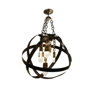Fusion Gold and Black Chandelier by Christine Rouviere For Sale