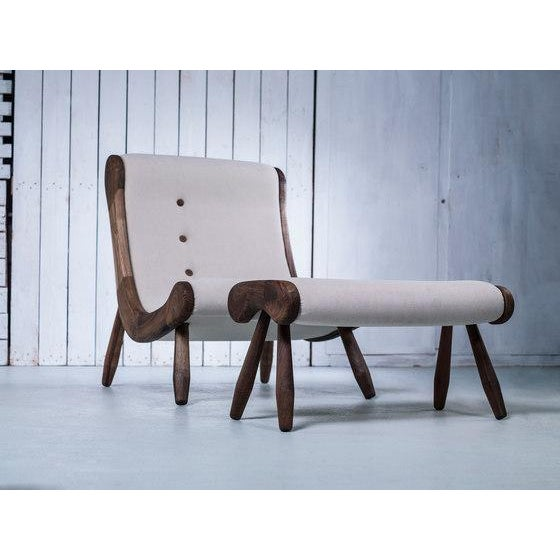 Danish Lounge Chair & Ottoman - Image 7 of 8