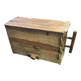 Asian Primitive Wood Box For Sale