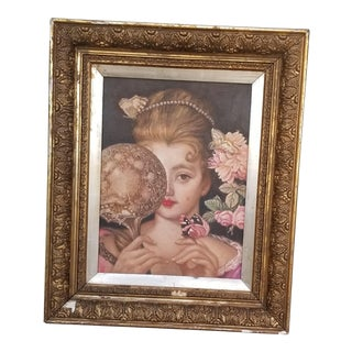 Victorian Girl Curiosity Portrait Painting For Sale