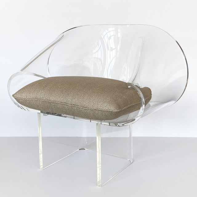 1970s 1970s Robert Van Horn Lucite Ribbon Lounge Chair, Signed For Sale - Image 5 of 13
