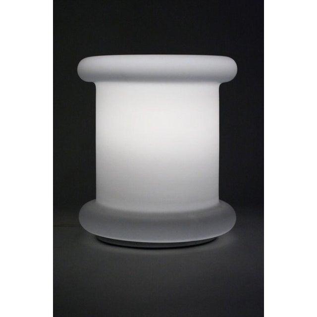 Koch & Lowy Koch + Lowy 'Tablette' White Satin Triplex Glass Lamp For Sale - Image 4 of 6