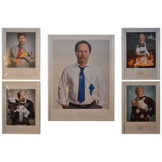 Set of Five Portraits of Funny People by Matt Hoyle For Sale