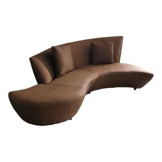"Post Modern Curved ""Bilbao"" Sofa Designed by Vladimir Kagan For Sale"