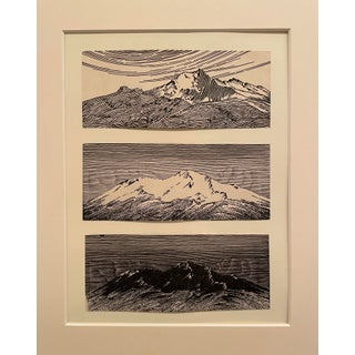 """1948 """"Mountain Top"""" Landscape Print by Don Blanding, Framed For Sale"""