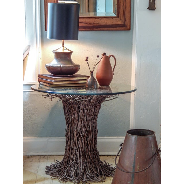 Gray Willow Twig Table Base For Sale - Image 8 of 9
