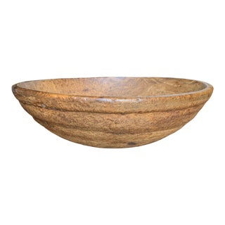 18th Century Early American Ash Burl Bowl For Sale
