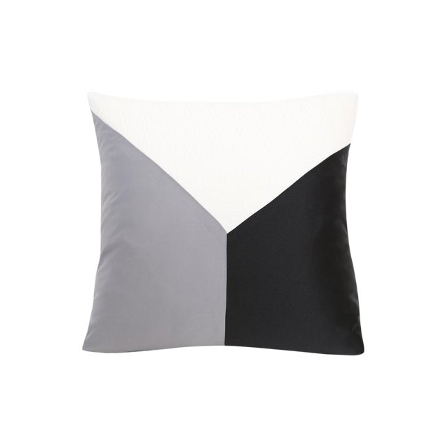 Gray Cubic Design Decorative Pillow - Image 1 of 3