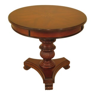 Cherry Inlaid Top Occasional Table For Sale