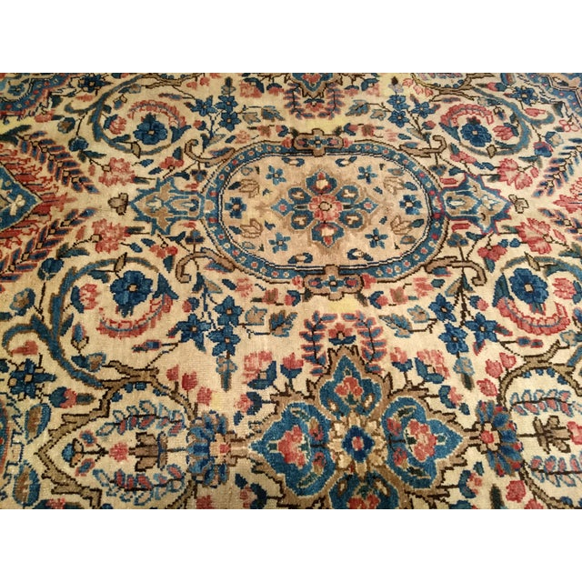 1940s Antique Yazd Persian Carpet - 6′6″ × 9′7″ For Sale - Image 5 of 10