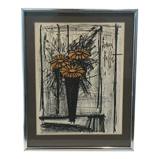 "1968 Bernard Buffet ""Flowers"" Lithograph For Sale"