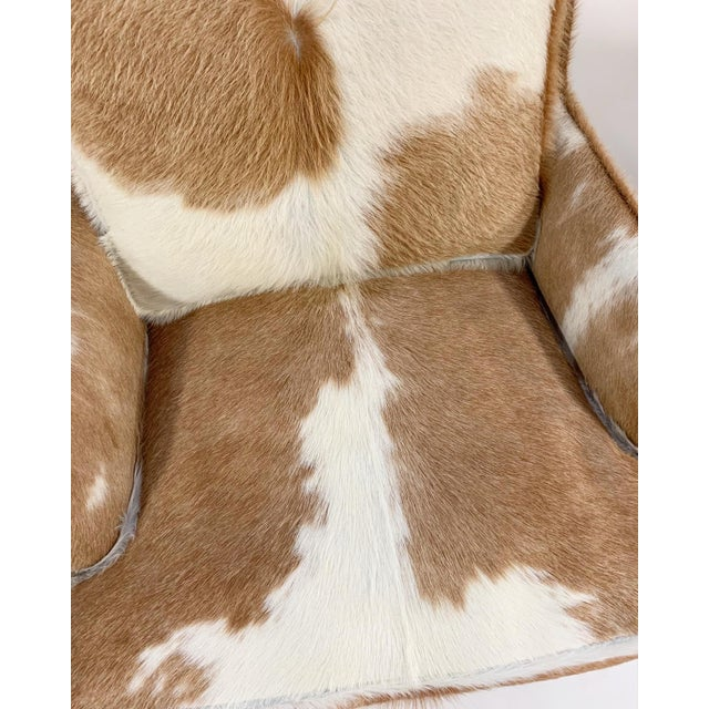 Flair Inc. Lounge Chairs Restored in Brazilian Cowhide - Pair For Sale - Image 9 of 10