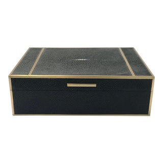 Bone Inlay & Shagreen Box For Sale