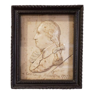 American Wax Relief Portrait of George Washington For Sale