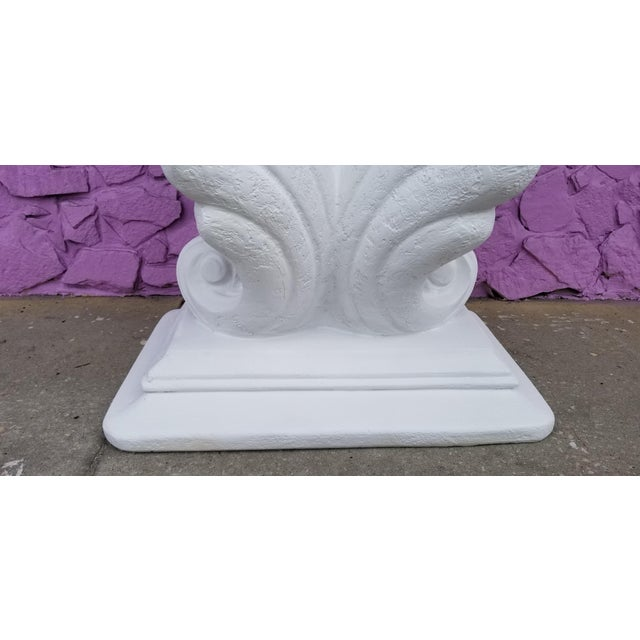 Grosfeld House Style Hollywood Regency Shell Plaster Console / Dining Table Base For Sale - Image 9 of 13