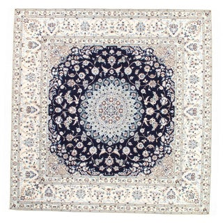 """Pasargad Persian Nain 6-Lines Hand-Knotted Lamb's Wool & Silk Rug - 6'7"""" X 6'9"""" For Sale"""