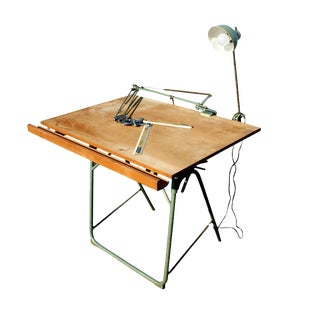 Vintage Christian Dell Folding Drafting Table Mr9542