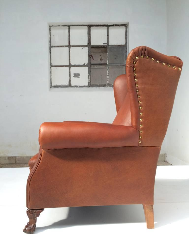 Very Comfortable Neo Gothic U0027griffin Talonu0027 Vintage Leather Wingback Chair    Image ...