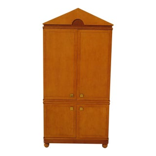 Hickory White Co. Biedermeier Satinwood Bedroom Armoire For Sale