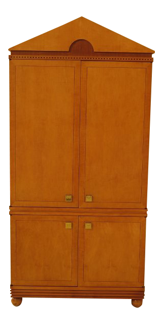 Hickory White Co. Biedermeier Satinwood Bedroom Armoire
