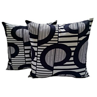 Black & White Afro Modern Pillow Covers - A Pair